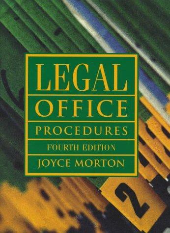 9780132610179: Legal Office Procedures