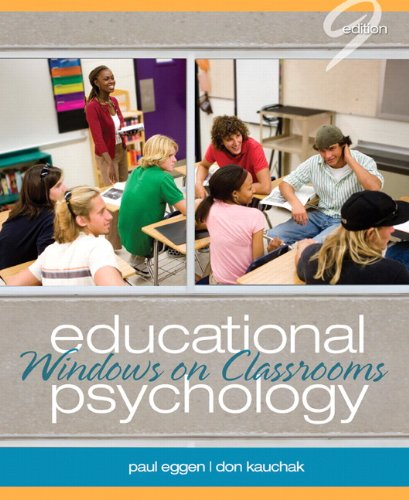 9780132610216: Educational Psychology:Windows on Classrooms