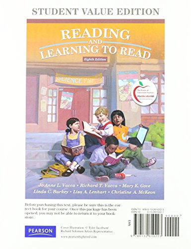 9780132610223: Reading and Learning to Read, Student Value Edition (8th Edition)