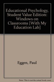 9780132610773: Educational Psychology: Windows on Classrooms, Student Value Edition with MyEducationLab (8th Edition)
