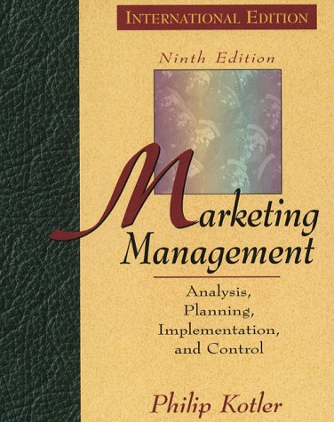 9780132613637: Marketing Management: Analysis, Planning and Control (Prentice Hall International series in marketing)