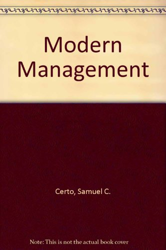 9780132614054: Modern Management