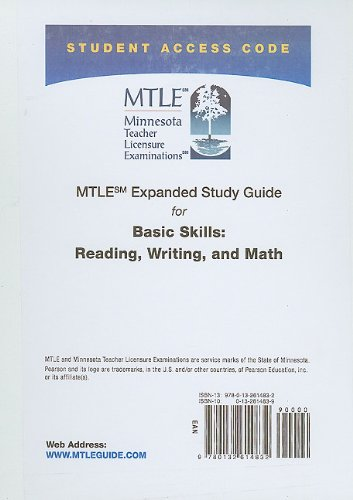 9780132614832: MTLE Expanded Study Guide -- Access Card -- for Basic Skills: Reading, Writing, and Math