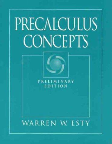 9780132616942: Precalculus Concepts, Preliminary Edition