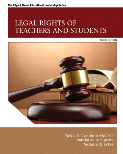 Legal Rights of Teachers and Students (3rd: Cambron-McCabe, Nelda H.,