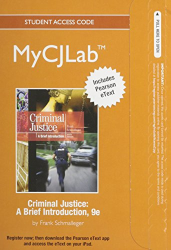 9780132621427: NEW MyCJLab with Pearson eText -- Standalone Access Card -- for Criminal Justice: A Brief Introduction