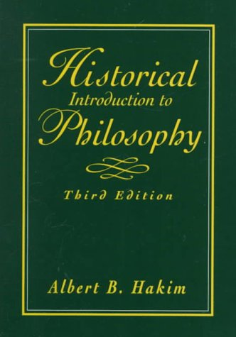 9780132625029: Historical Introduction to Philosophy