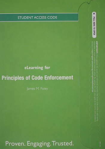 9780132626293: eLearning -- Access Card -- for Principles of Code Enforcement