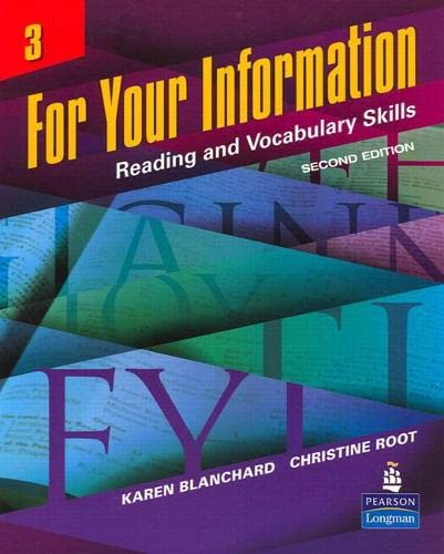 9780132626453: For Your Information 3: Reading and Vocabulary Skills (Student Book and Classroom Audio CDs) (2nd Edition)