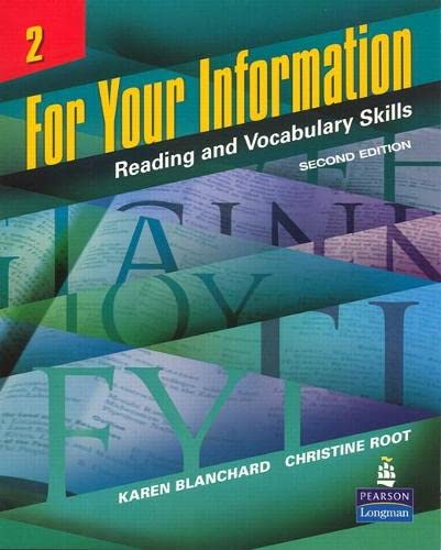 9780132626477: For Your Information 2: Reading and Vocabulary Skills (Student Book and Classroom Audio CDs) (2nd Edition)