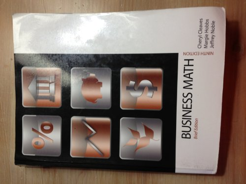 9780132626798: Business Mathematics, Brief Edition with Study Guide (9th Edition)