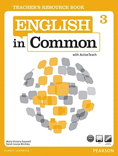 9780132628853: English in Common 3. Teacher's book and Active Teach