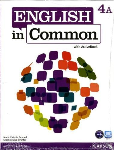 9780132628891: English in Common 4A Split: Student Book with ActiveBook and Workbook and MyEnglishLab