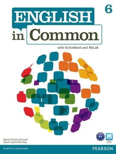 9780132629065: English in Common 6 + Activebook + Myenglishlab