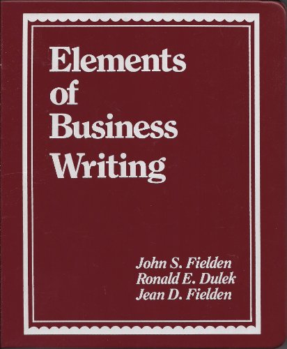 9780132635257: Elements of Business Writing