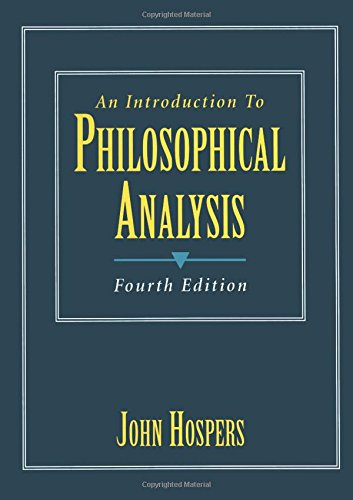 9780132663052: An Introduction to Philosophical Analysis