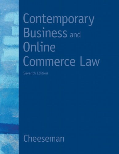 9780132664370: Contemporary Business and Online Commerce Law (7th Edition) (MyBLawLab Series)