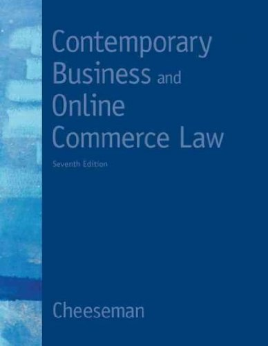 9780132664424: [(Contemporary Business and Online Commerce Law )] [Author: Henry R. Cheeseman] [Mar-2011]