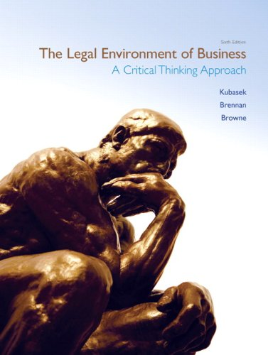 9780132664844: The Legal Environment of Business (6th Edition) (MyBLawLab Series)