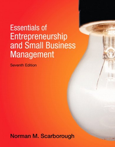 9780132666794: Essentials of Entrepreneurship and Small Business Management (7th Edition)