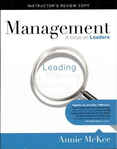 MANAGEMENT A FOCUS ON LEADERS. I