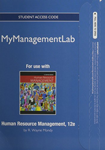 9780132667333: MyManagementLab -- Access Card -- for Human Resource Management