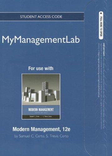9780132667388: MyManagementLab -- Access Card -- for Modern Management: Concepts and Skills (MyManagementLab (access codes))