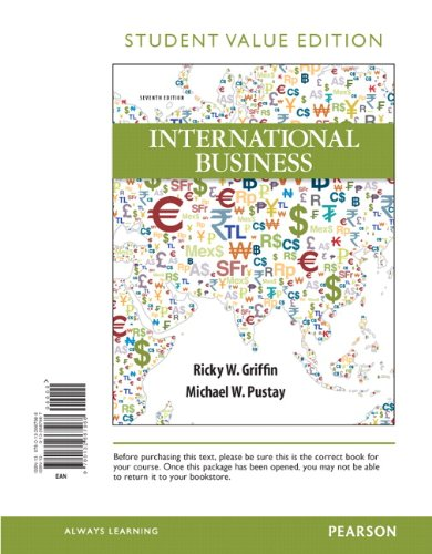 9780132667968: International Business, Student Value Edition (7th Edition)