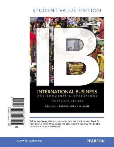 9780132668699: International Business: Environments & Operations, Student Value Edition (14th Edition)