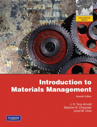 9780132668873: Introduction to Materials Management