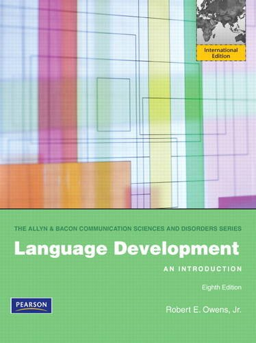 9780132668903: Language Development: An Introduction: International Edition