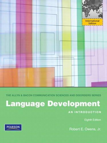 9780132668903: Language Development: An Introduction: International Edition