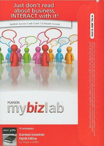 9780132668941: MyBizLab -- Access Card -- for Business Essentials (8th Edition)