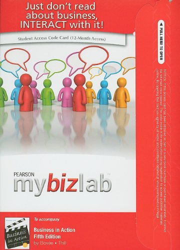 9780132668958: MyBizLab Student Access Code for Business in Action with Real Time Updates
