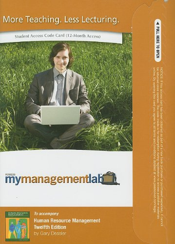 9780132669009: MyManagementLab Student Access Code for Human Resource Management (MyManagementLab (access codes))