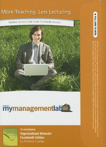 9780132669016: MyManagementLab -- Access Card -- for Organizational Behavior (MyManagementLab (access codes))
