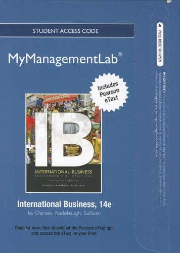 9780132669429: 2012 MyManagementLab with Pearson eText -- Access Card -- for International Business: Environments & Operations (MyManagementLab (access codes))