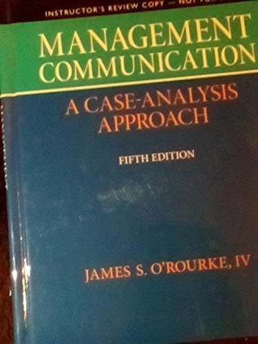 9780132671422: I.e. Management Communication 5th.ed. Hardcover