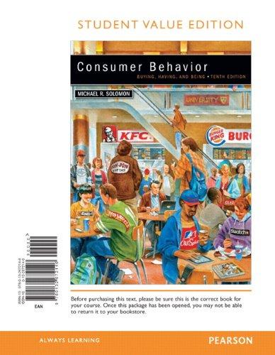 9780132672146: Consumer Behavior, Student Value Edition (10th Edition)