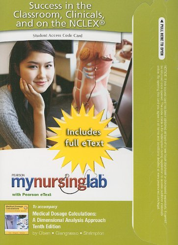 MyLab Nursing with Pearson eText -- Access: June L. Olsen