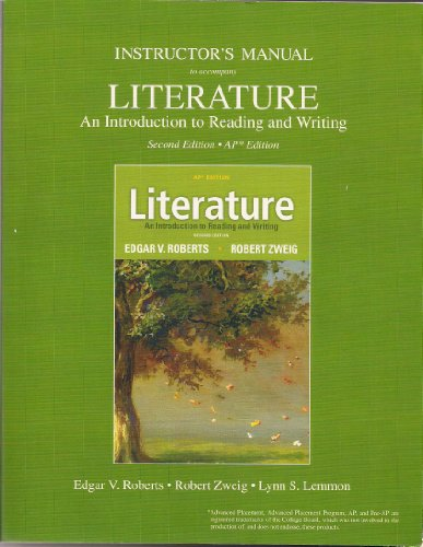 9780132677882: Instructor's Manual to accompany Literature 2nd AP Edition