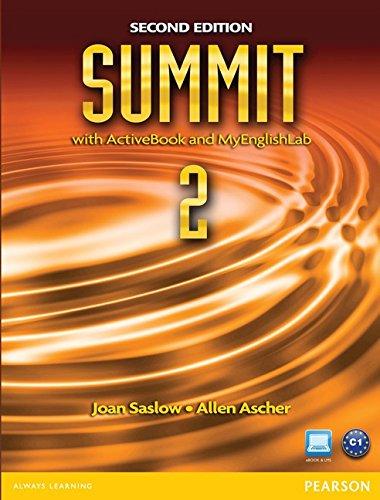 9780132679961: Summit 2 with Active Book & MyEnglishLab