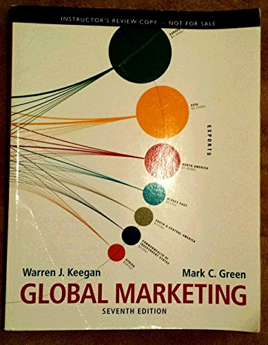 9780132681599: Global Marketing (7th Edition) Instructor's Review Copy