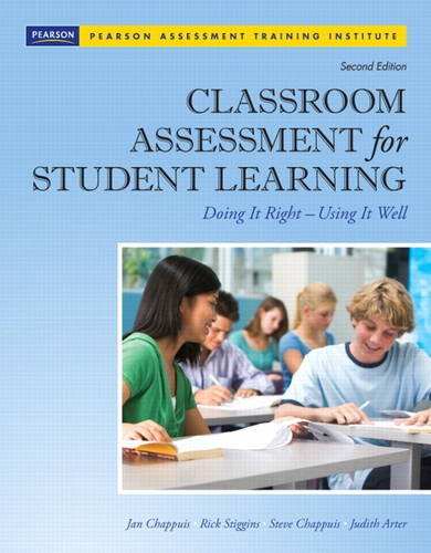 9780132685887: Classroom Assessment for Student Learning: Doing It Right - Using It Well