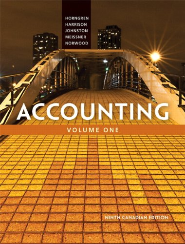 9780132690096: Accounting, Volume 1, Ninth Canadian Edition (9th Edition)