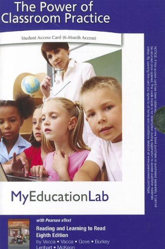 9780132695381: MyEducationLab Pegasus with Pearson eText -- Standalone Access Card -- for Reading and Learning to Read (myeducationlab (Access Codes))