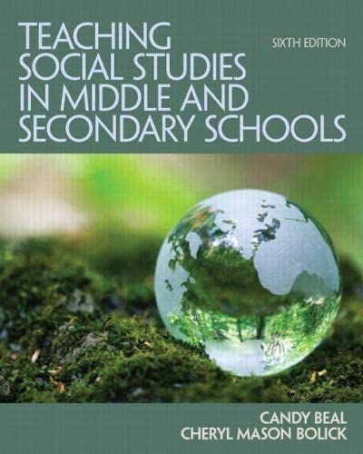 9780132698108: Teaching Social Studies in Middle and Secondary Schools (6th Edition)