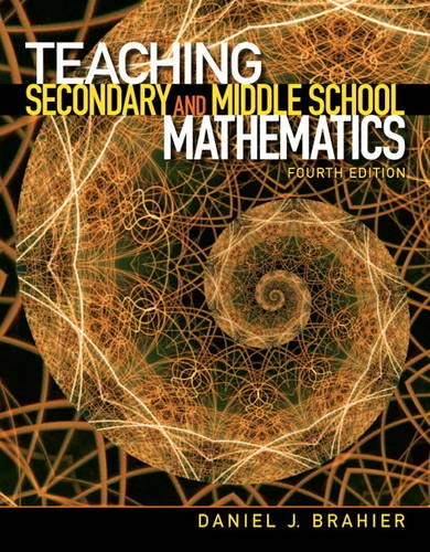 9780132698115: Teaching Secondary and Middle School Mathematics (4th Edition)