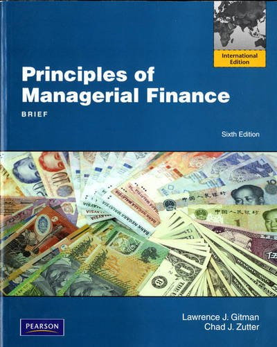 9780132701068: Principles of Managerial Finance, Brief