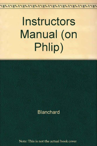 9780132703987: Instructors Manual (on Phlip)